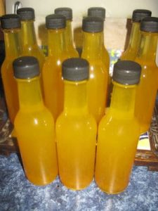 Fire Cider bottles