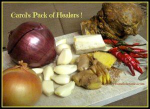 Carols pack of healing herbs
